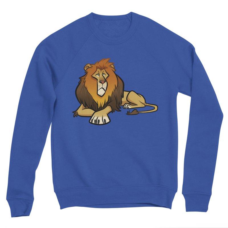 Lion Men's Sponge Fleece Sweatshirt by binarygod's Artist Shop