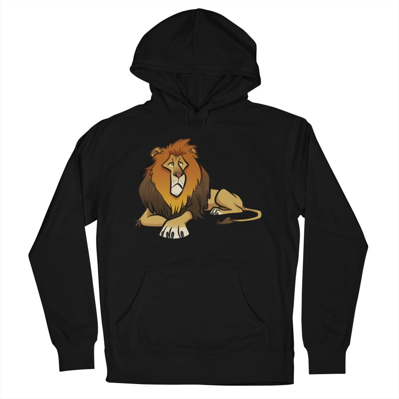 Lion Women's French Terry Pullover Hoody by binarygod's Artist Shop