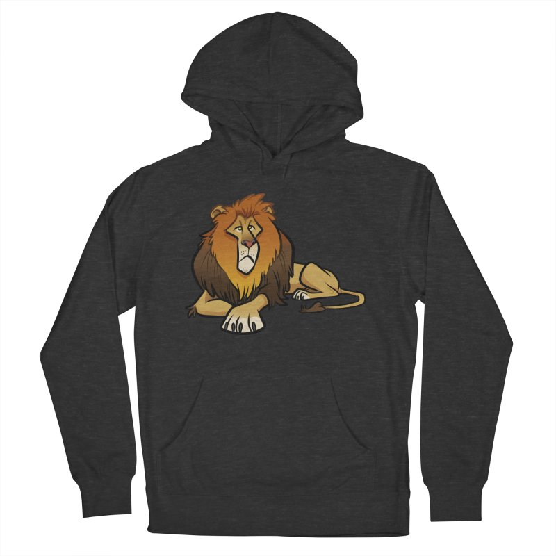 Lion Men's French Terry Pullover Hoody by binarygod's Artist Shop
