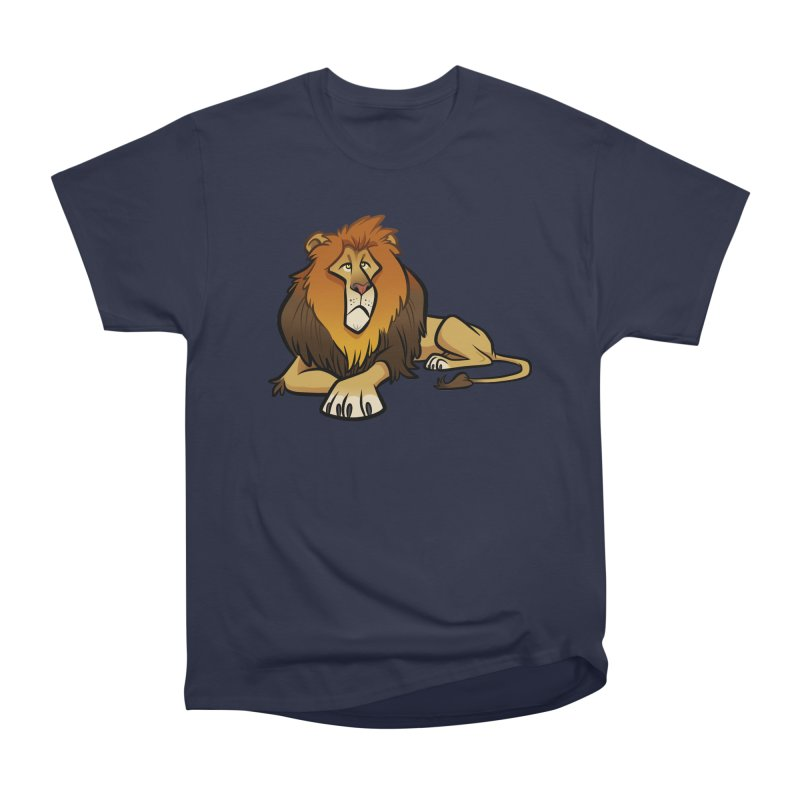 Lion Women's Heavyweight Unisex T-Shirt by binarygod's Artist Shop