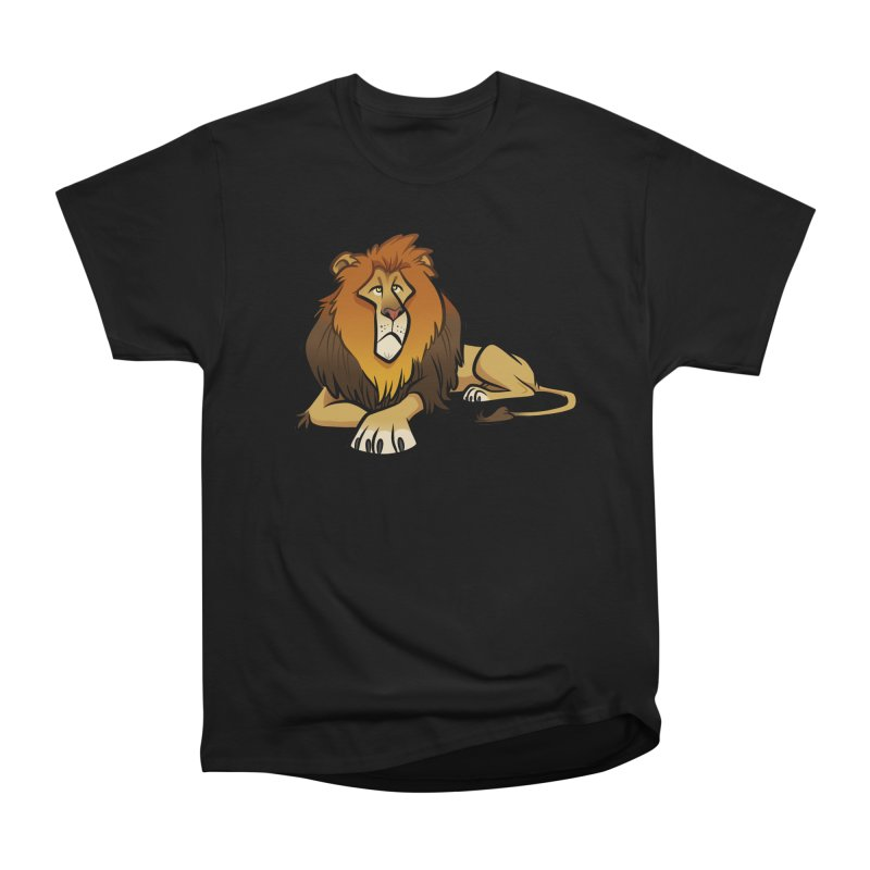 Lion Men's Heavyweight T-Shirt by binarygod's Artist Shop