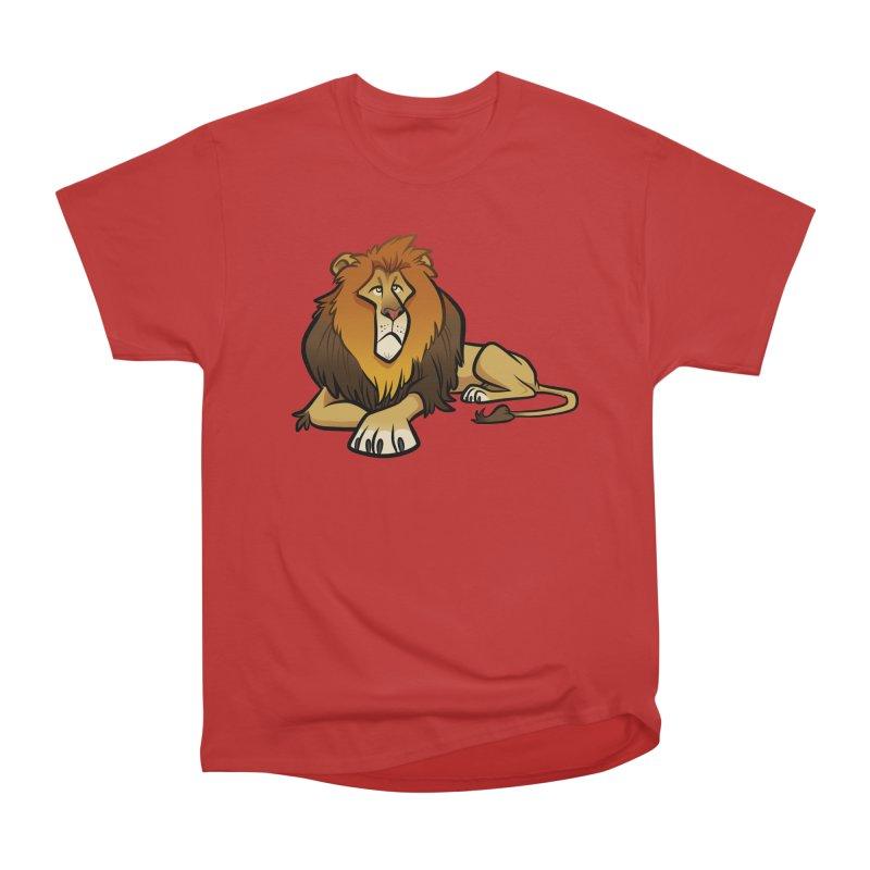 Lion Men's Heavyweight T-Shirt by binarygod's Artist Shop