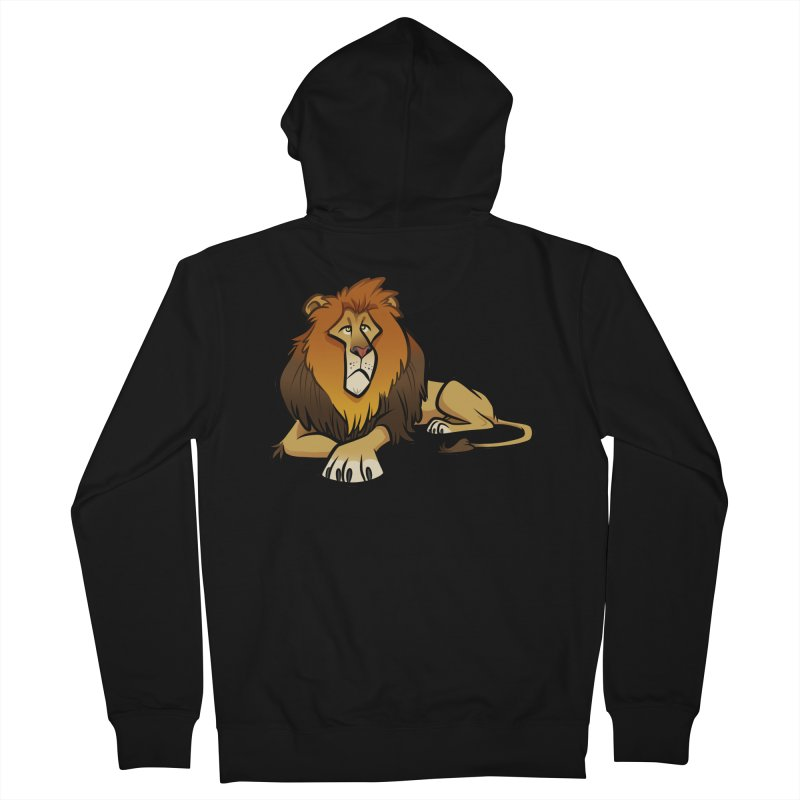 Lion Women's French Terry Zip-Up Hoody by binarygod's Artist Shop