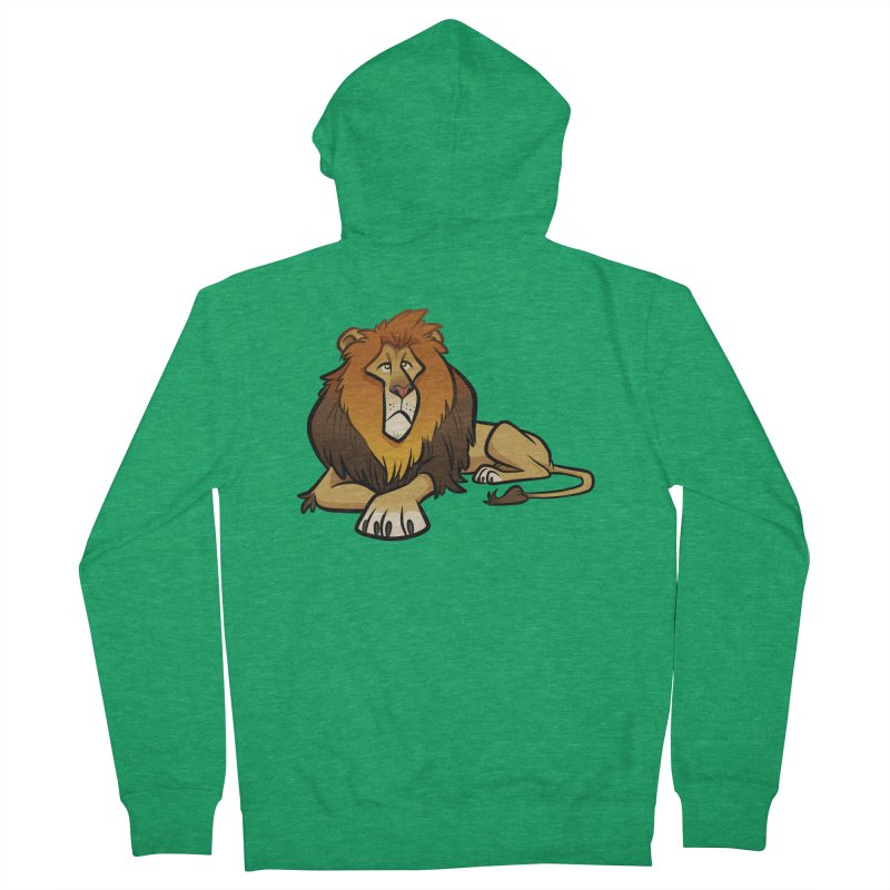 Lion Men's French Terry Zip-Up Hoody by binarygod's Artist Shop