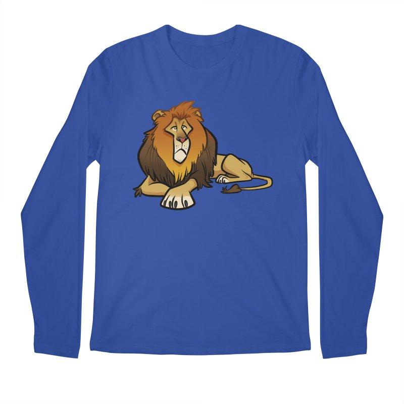 Lion Men's Regular Longsleeve T-Shirt by binarygod's Artist Shop
