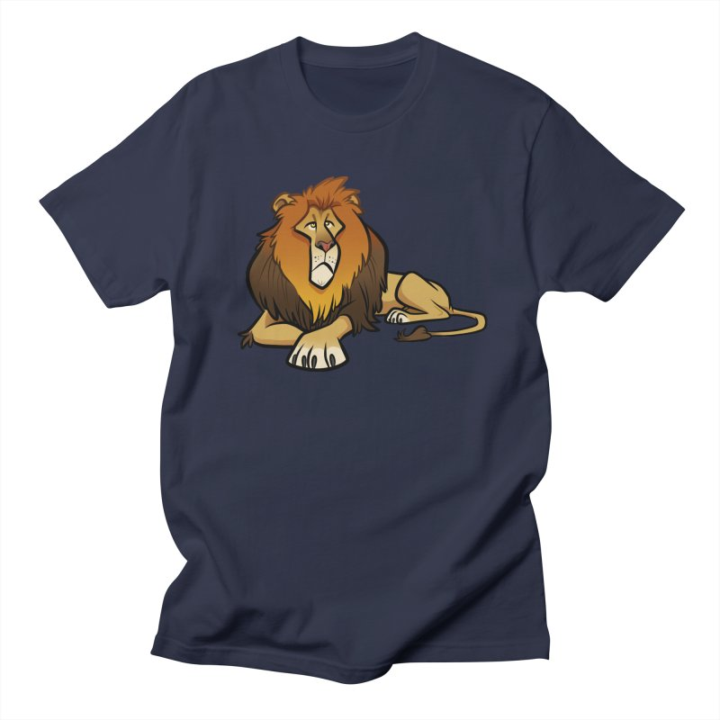 Lion Women's Regular Unisex T-Shirt by binarygod's Artist Shop