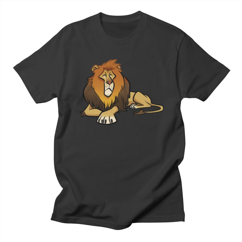Lion Men's Regular T-Shirt by binarygod's Artist Shop