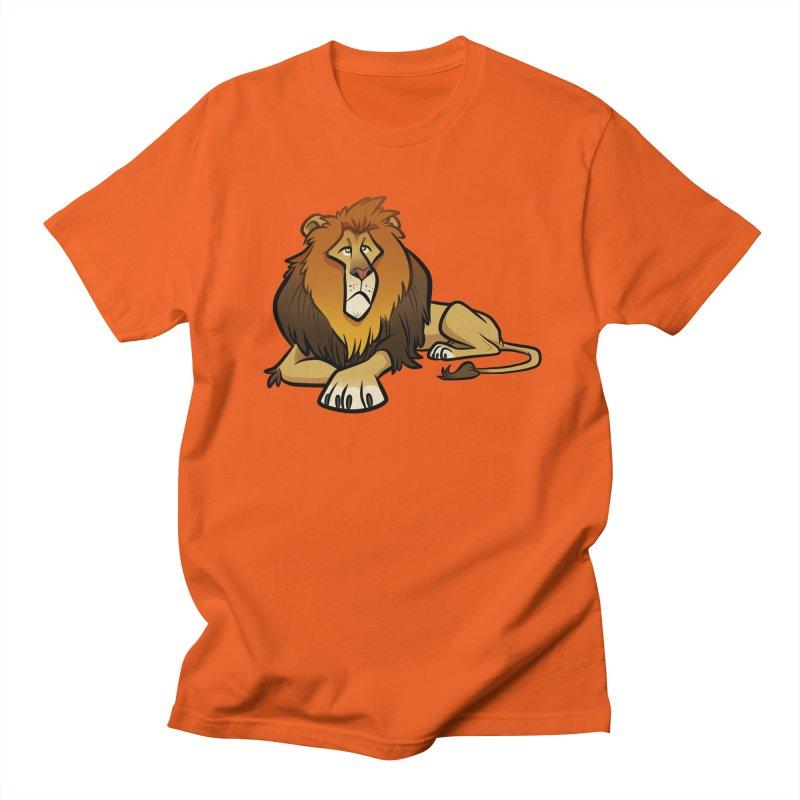 Lion Women's Regular Unisex T-Shirt by binarygod's Artist Shop