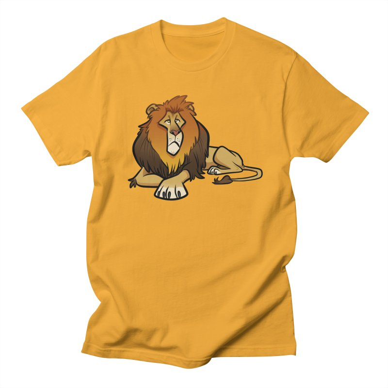 Lion Men's Regular T-Shirt by binarygod's Artist Shop