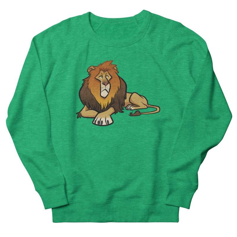 Lion Men's French Terry Sweatshirt by binarygod's Artist Shop