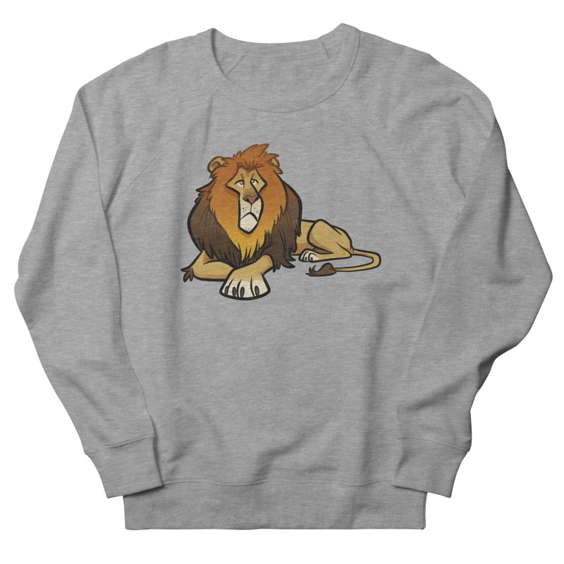 Lion Men's French Terry Sweatshirt by binarygod's Artist Shop