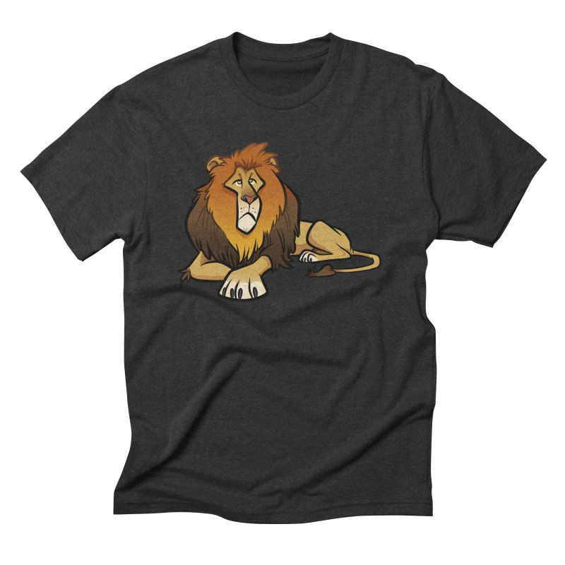 Lion Men's Triblend T-Shirt by binarygod's Artist Shop