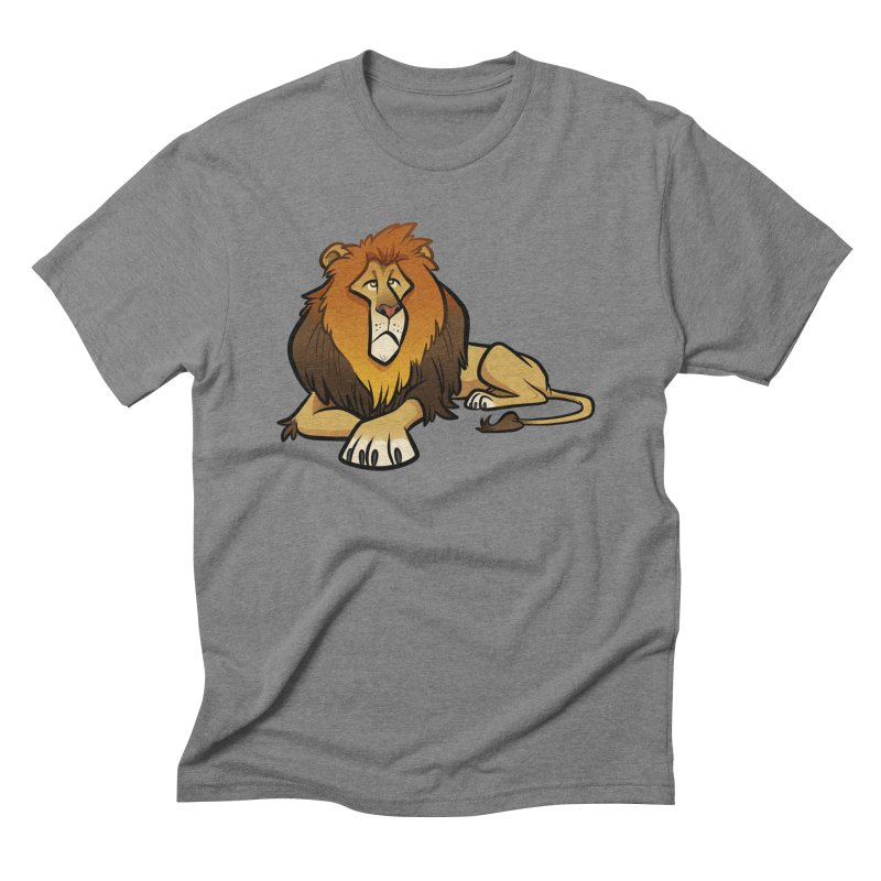 Lion Men's Triblend T-Shirt by binarygod's Artist Shop