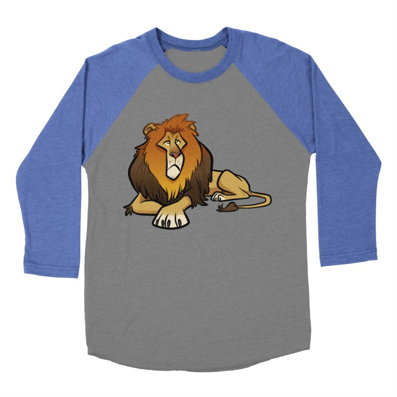 Lion Men's Baseball Triblend Longsleeve T-Shirt by binarygod's Artist Shop