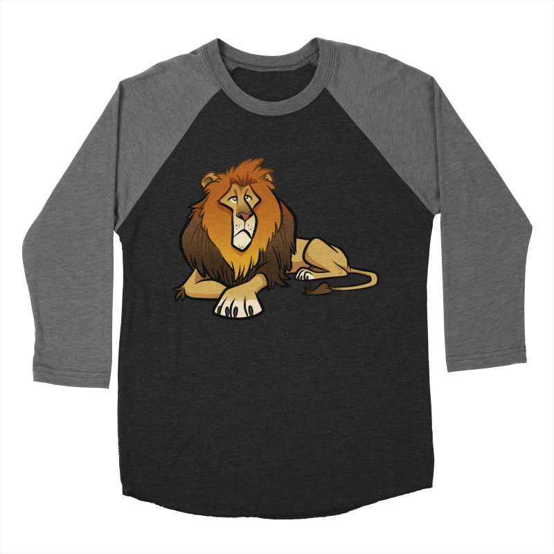 Lion Men's Baseball Triblend Longsleeve T-Shirt by binarygod's Artist Shop
