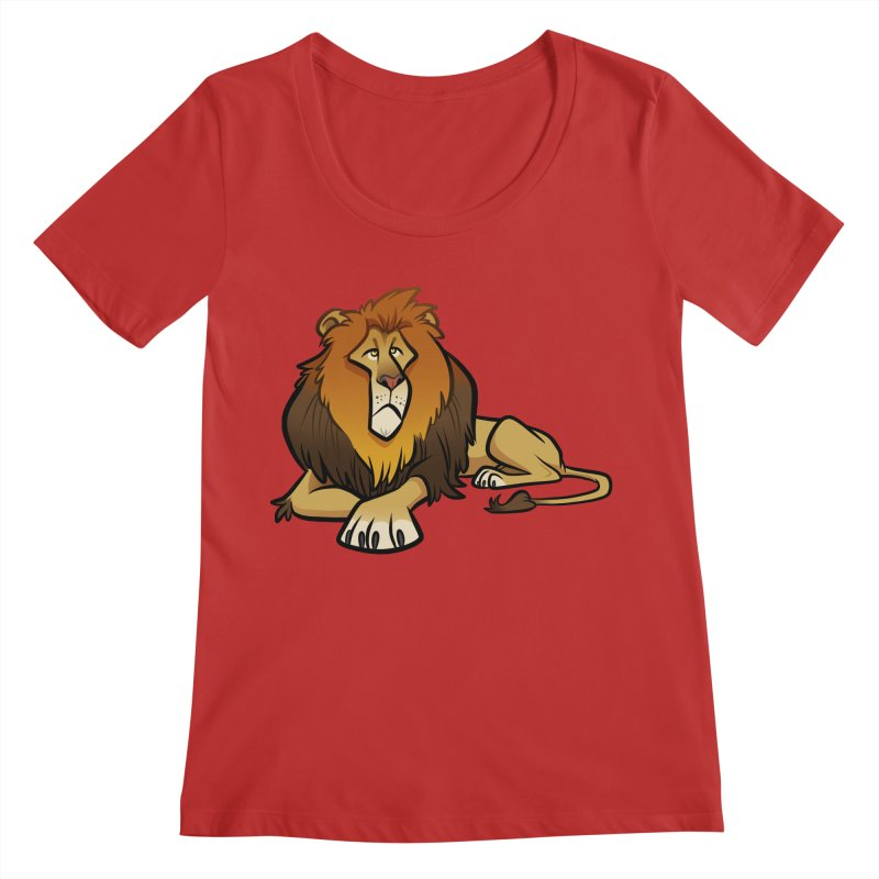 Lion Women's Regular Scoop Neck by binarygod's Artist Shop