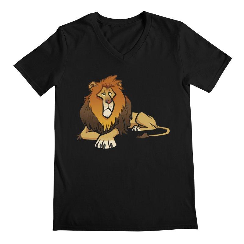 Lion Men's Regular V-Neck by binarygod's Artist Shop