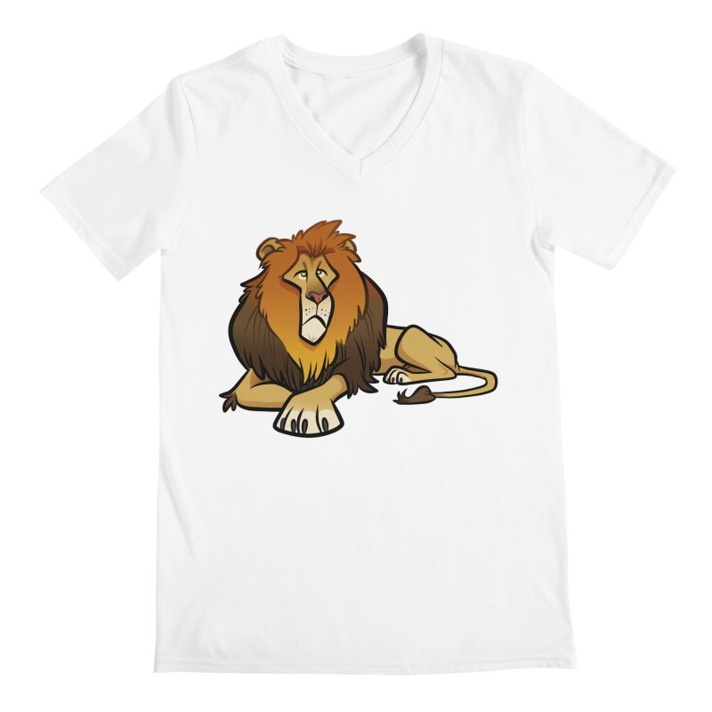 Lion Men's Regular V-Neck by binarygod's Artist Shop