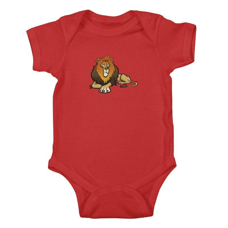 Lion Kids Baby Bodysuit by binarygod's Artist Shop