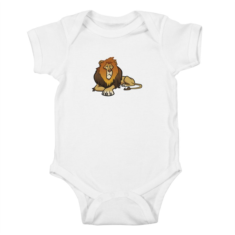 Lion Kids Baby Bodysuit by binarygod's Artist Shop