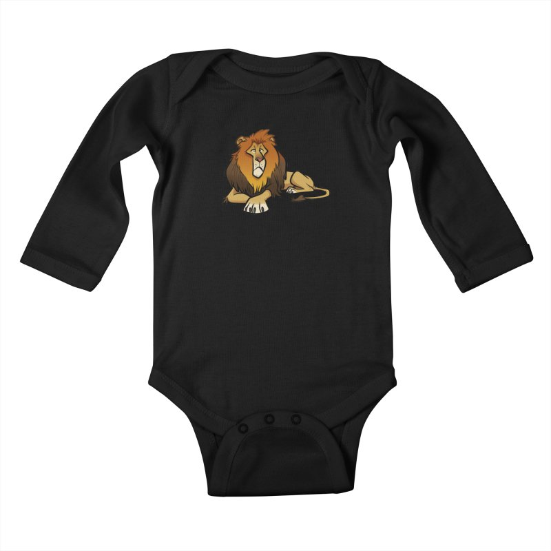 Lion Kids Baby Longsleeve Bodysuit by binarygod's Artist Shop