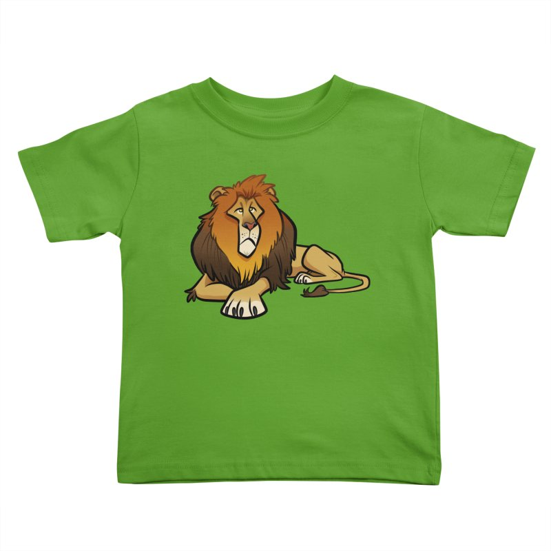 Lion Kids Toddler T-Shirt by binarygod's Artist Shop