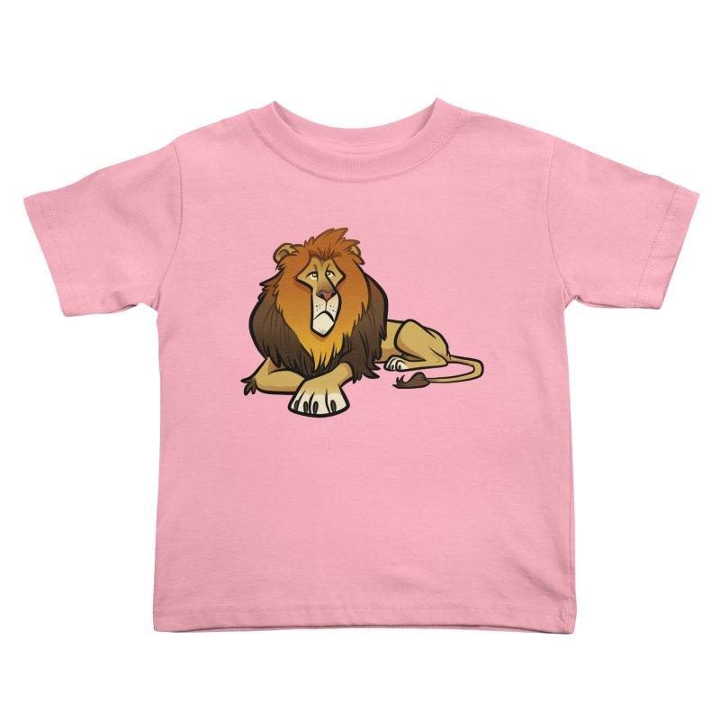 Lion Kids Toddler T-Shirt by binarygod's Artist Shop