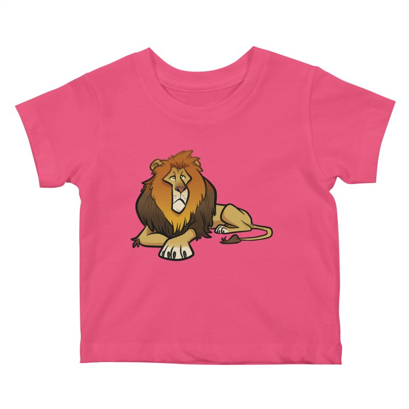 Lion Kids Baby T-Shirt by binarygod's Artist Shop