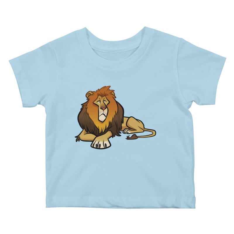 Lion Kids Baby T-Shirt by binarygod's Artist Shop