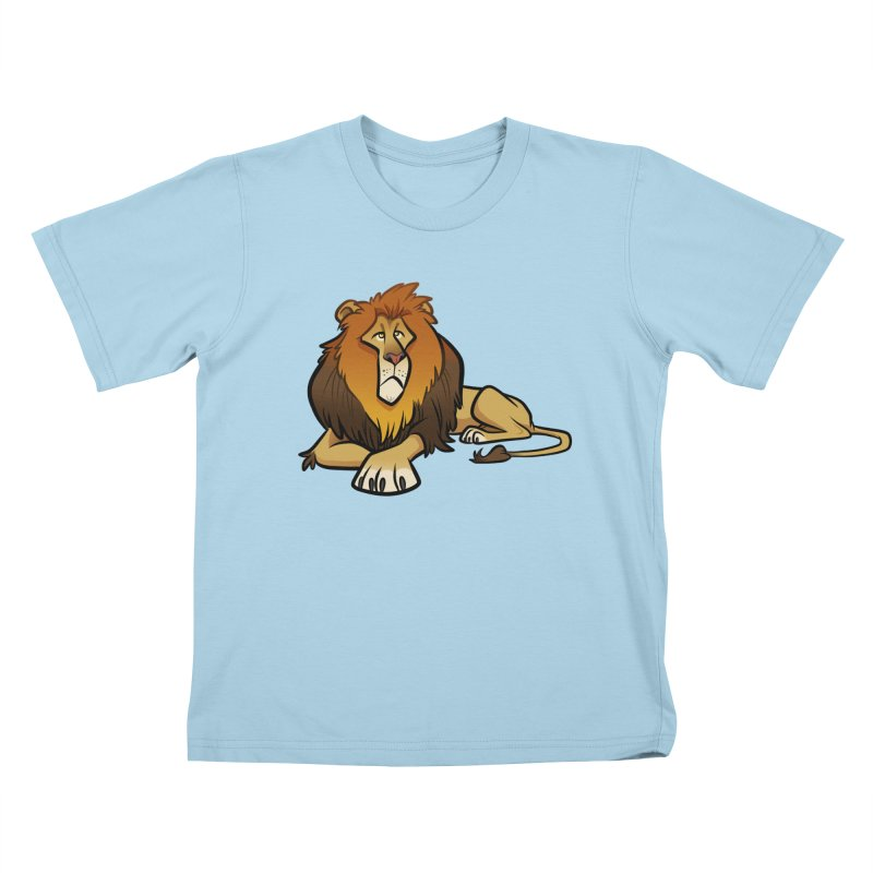 Lion Kids T-Shirt by binarygod's Artist Shop
