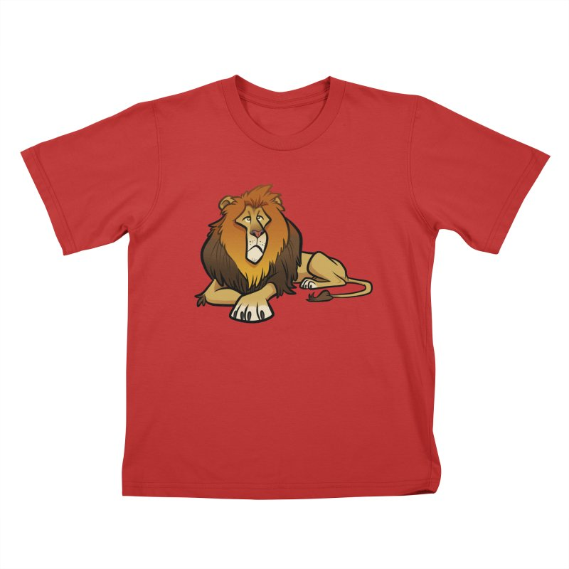 Lion Kids T-Shirt by binarygod's Artist Shop