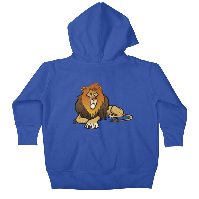 Lion Kids Baby Zip-Up Hoody by binarygod's Artist Shop