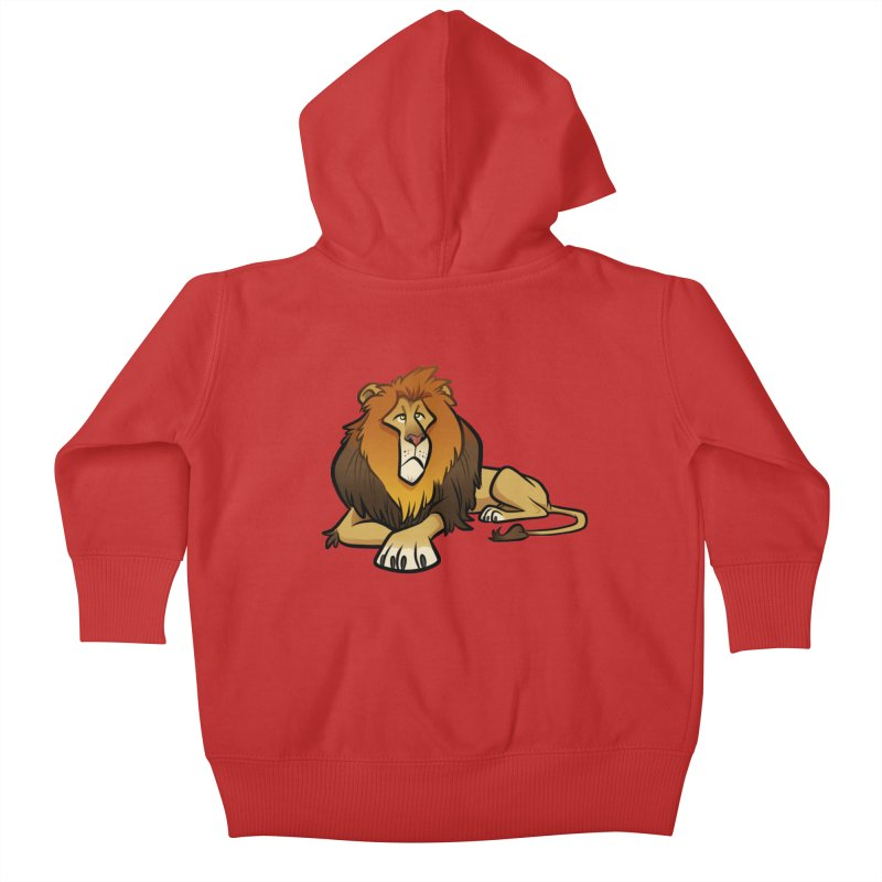Lion Kids Baby Zip-Up Hoody by binarygod's Artist Shop