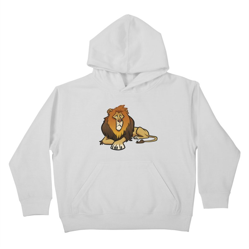 Lion Kids Pullover Hoody by binarygod's Artist Shop