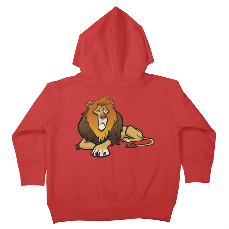 Lion Kids Toddler Zip-Up Hoody by binarygod's Artist Shop