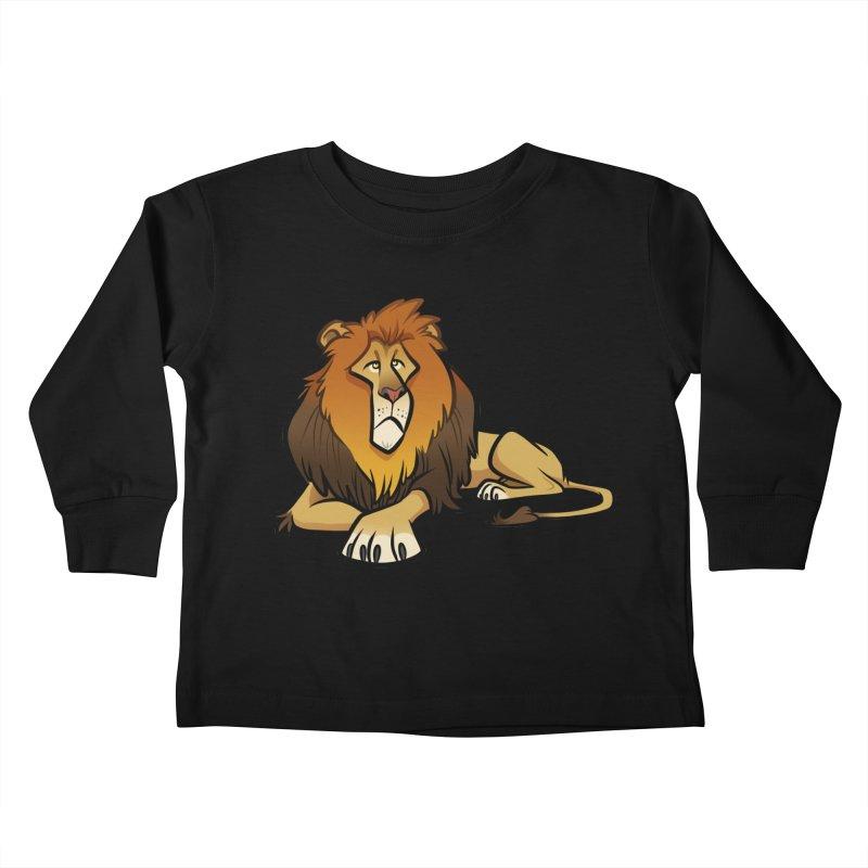 Lion Kids Toddler Longsleeve T-Shirt by binarygod's Artist Shop