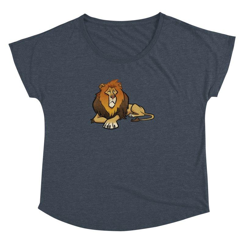 Lion Women's Dolman Scoop Neck by binarygod's Artist Shop