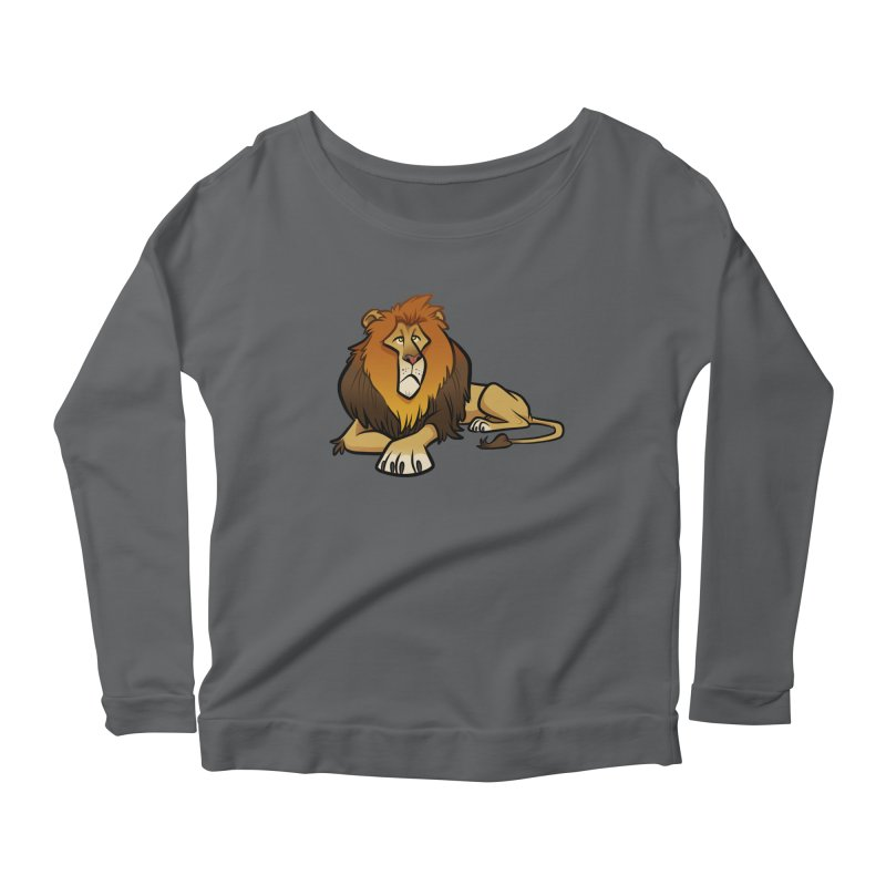 Lion Women's Scoop Neck Longsleeve T-Shirt by binarygod's Artist Shop