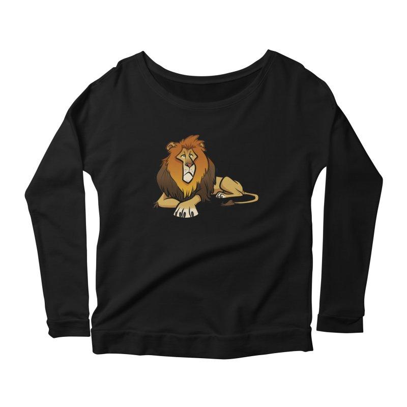 Lion Women's Scoop Neck Longsleeve T-Shirt by binarygod's Artist Shop