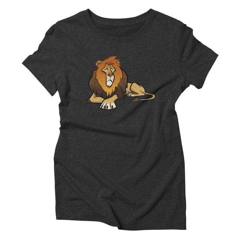 Lion Women's Triblend T-Shirt by binarygod's Artist Shop