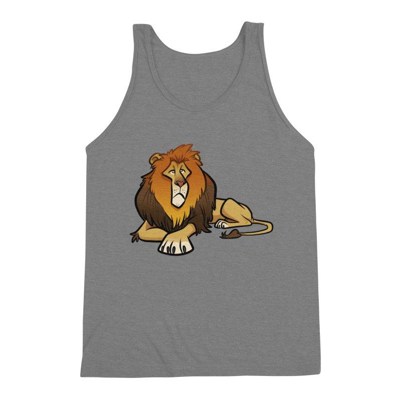 Lion Men's Triblend Tank by binarygod's Artist Shop