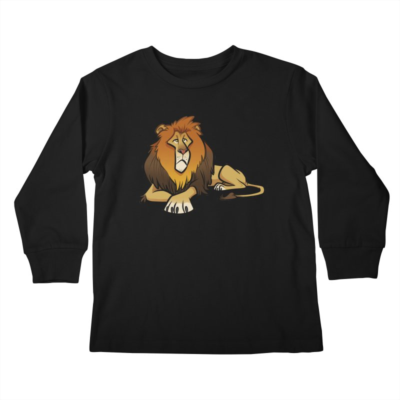 Lion Kids Longsleeve T-Shirt by binarygod's Artist Shop