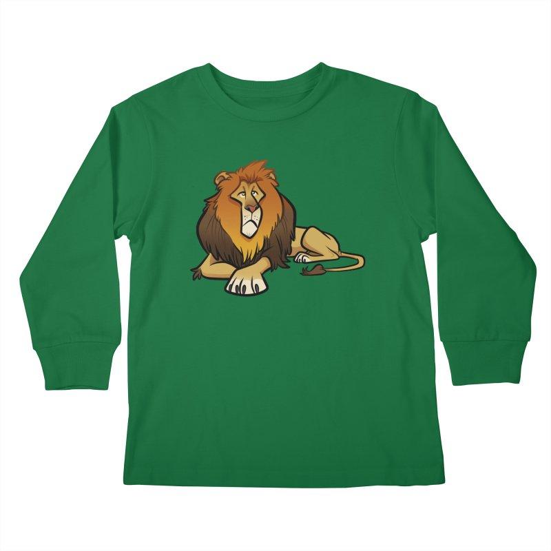 Lion Kids Longsleeve T-Shirt by binarygod's Artist Shop
