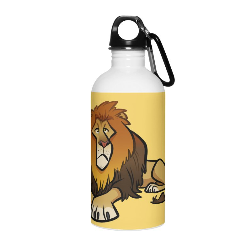 Lion Accessories Water Bottle by binarygod's Artist Shop