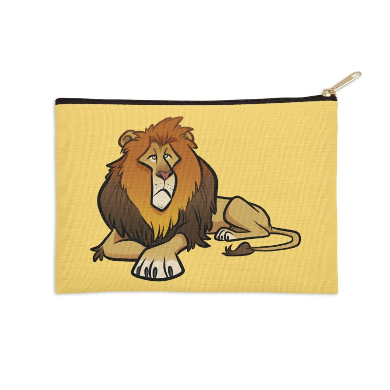 Lion Accessories Zip Pouch by binarygod's Artist Shop