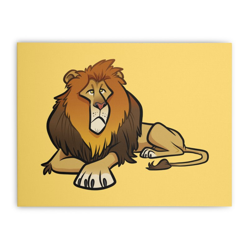 Lion Home Stretched Canvas by binarygod's Artist Shop