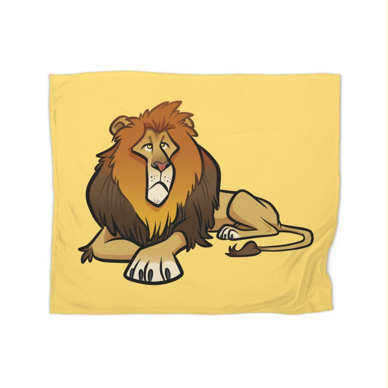 Lion Home Fleece Blanket Blanket by binarygod's Artist Shop