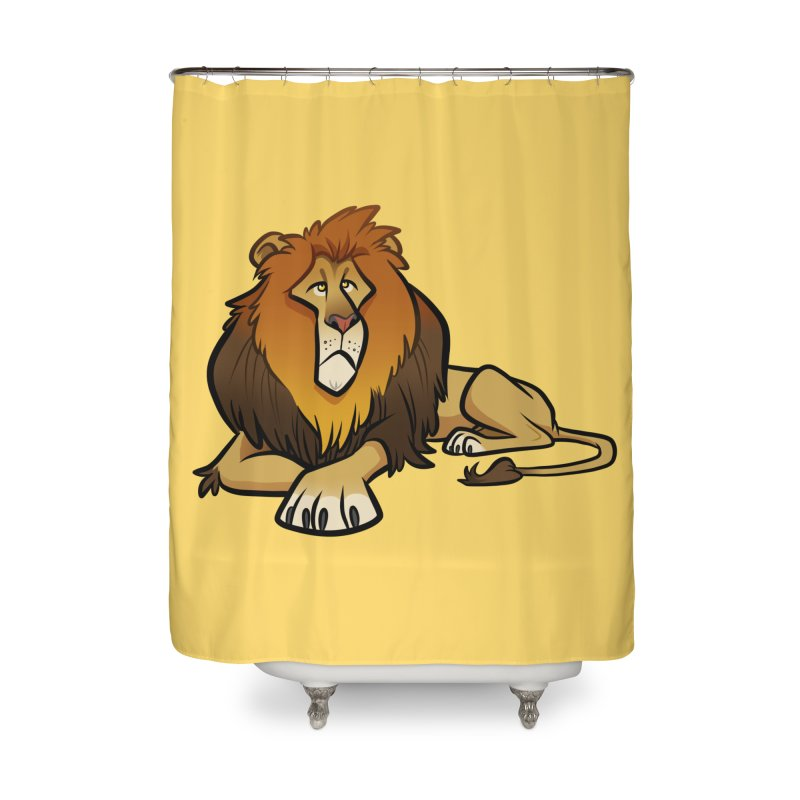 Lion Home Shower Curtain by binarygod's Artist Shop