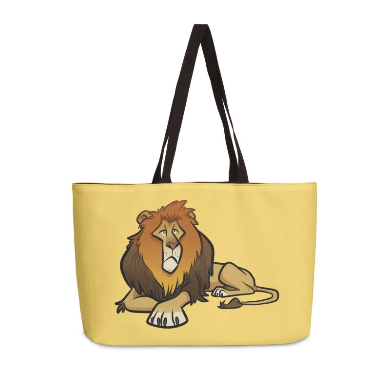 Lion Accessories Weekender Bag Bag by binarygod's Artist Shop