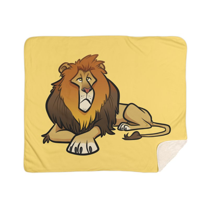 Lion Home Sherpa Blanket Blanket by binarygod's Artist Shop